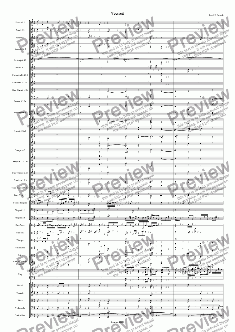 "page one of the Actually, Voorts pt1 was derived from this music part from ""Voorts"" symphony part 1: Verduidelijking"
