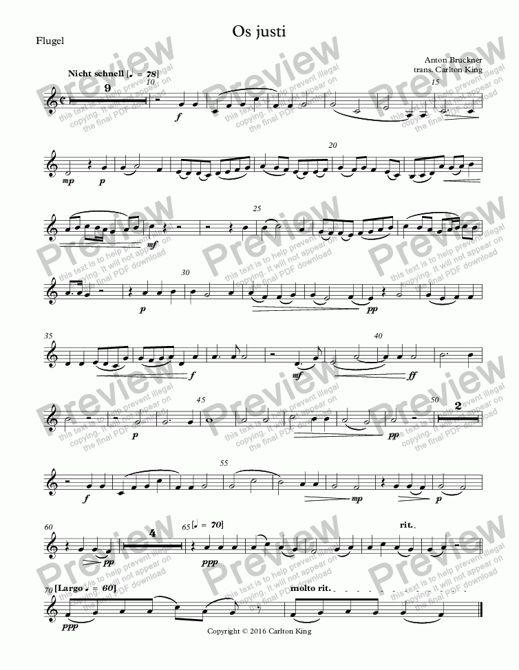 page one of the Flugel part from Os justi