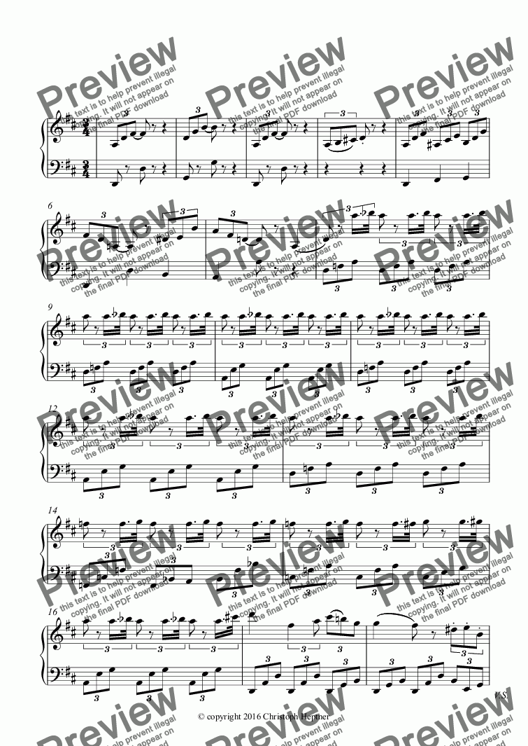 "page one of the Piano part from ""Andantino"" aus der Oper ""Ernani"""