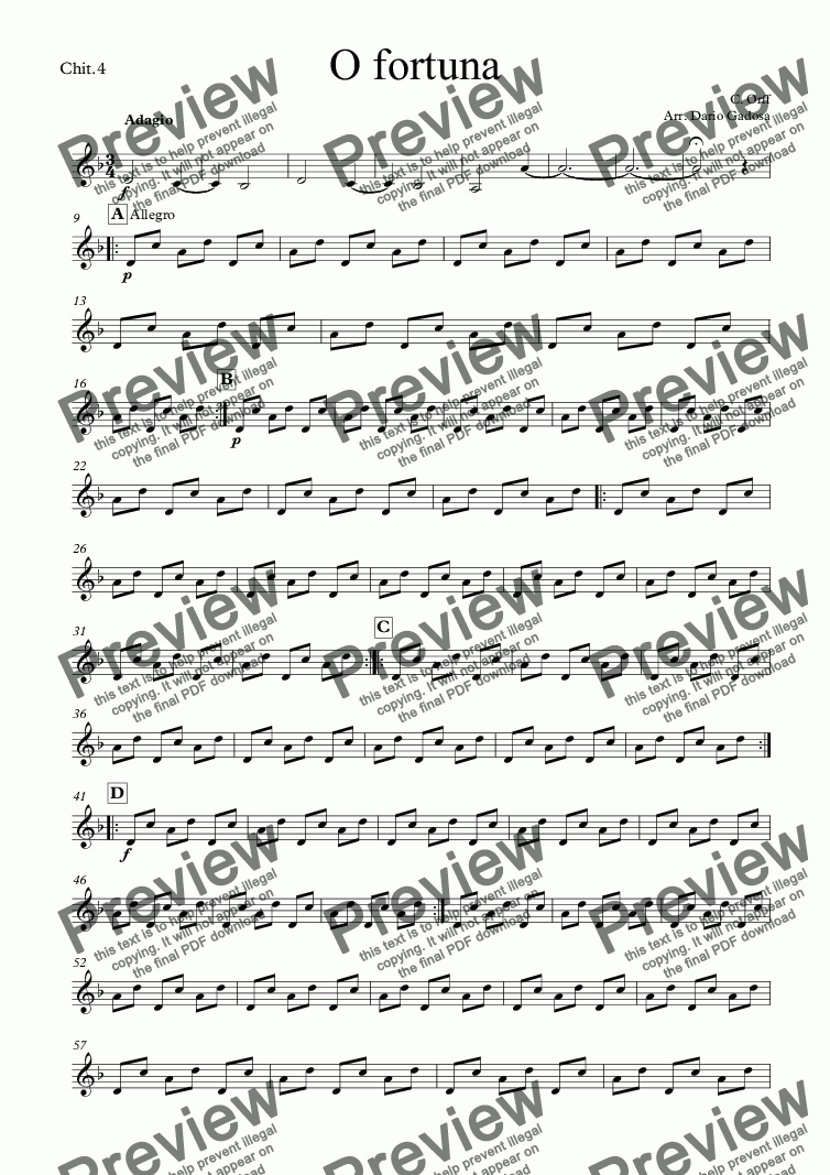 page one of the Chit.4 part from O fortuna