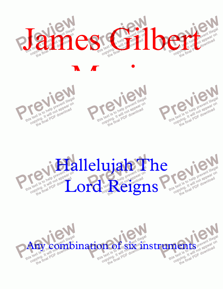 page one of the Harmony 4 (C) part from Hallelujah, The Lord Reigns