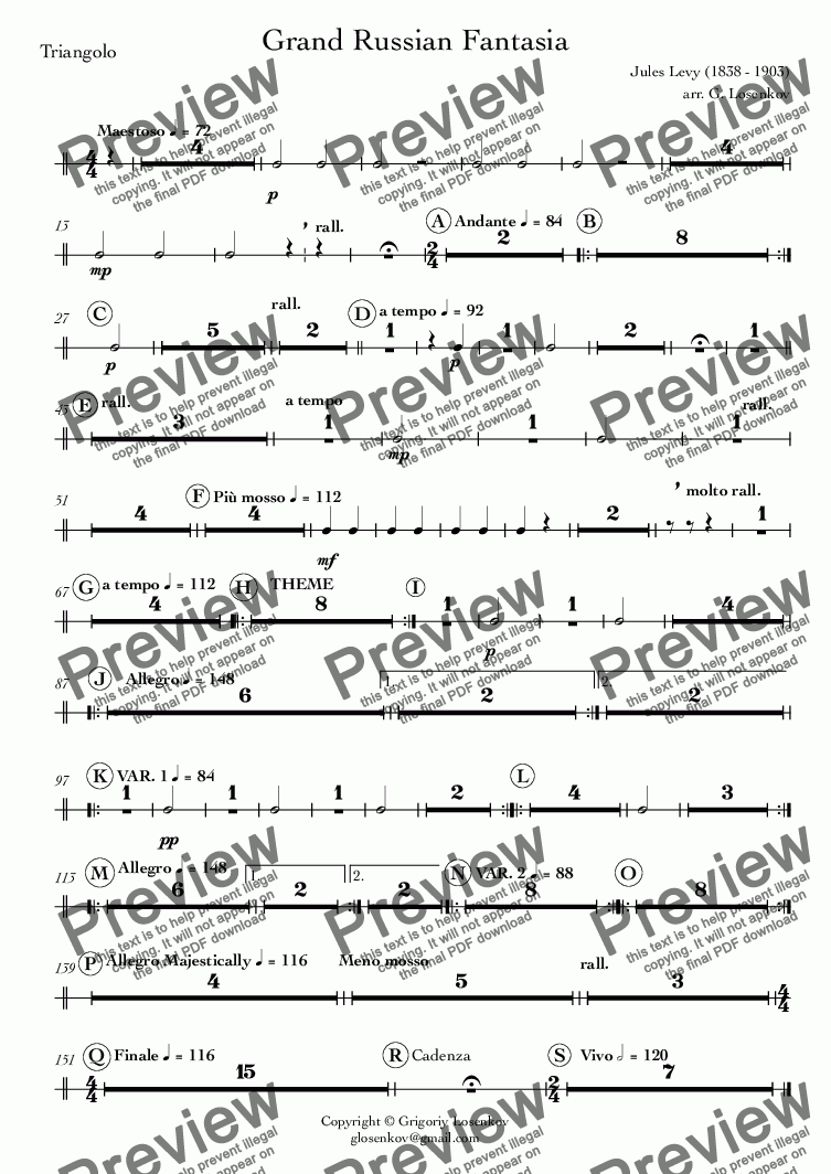page one of the 25_Triangolo part from Grand Russian Fantasia