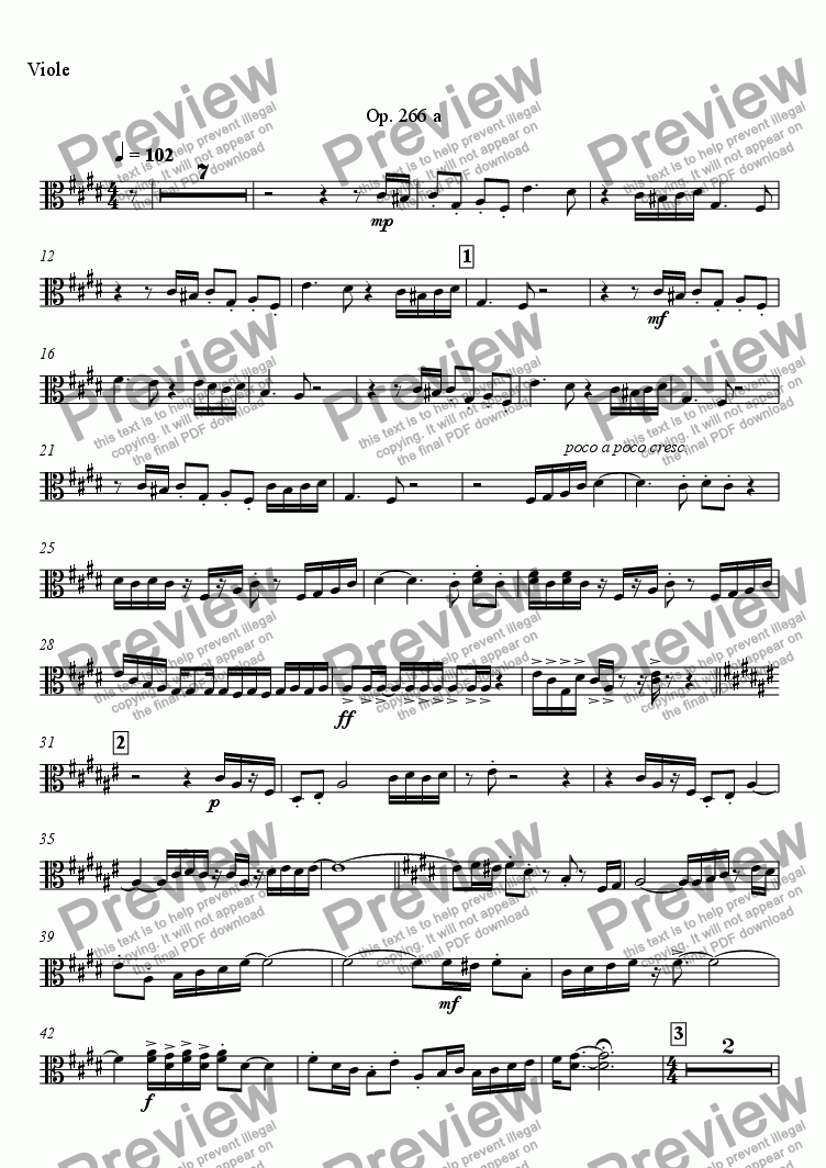 page one of the Viole part from Polyphonic Games