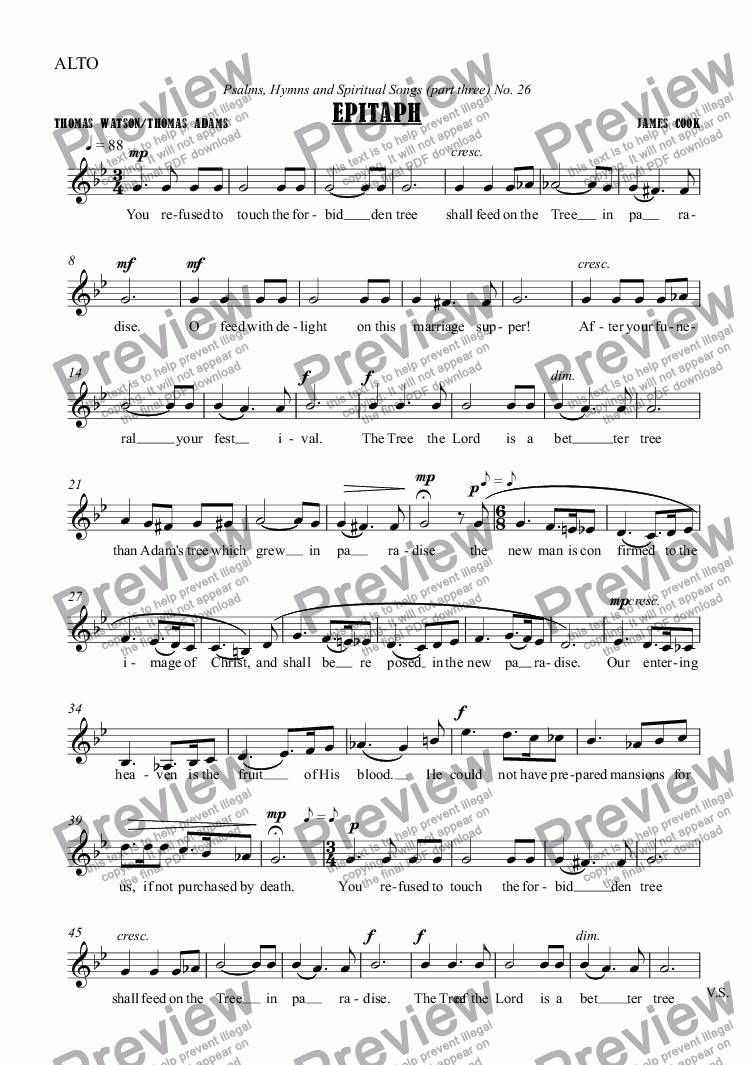 page one of the ALTO part from Epitaph