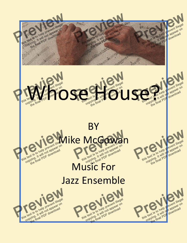 page one of the Whose House? - Score and Parts part from Whose House?