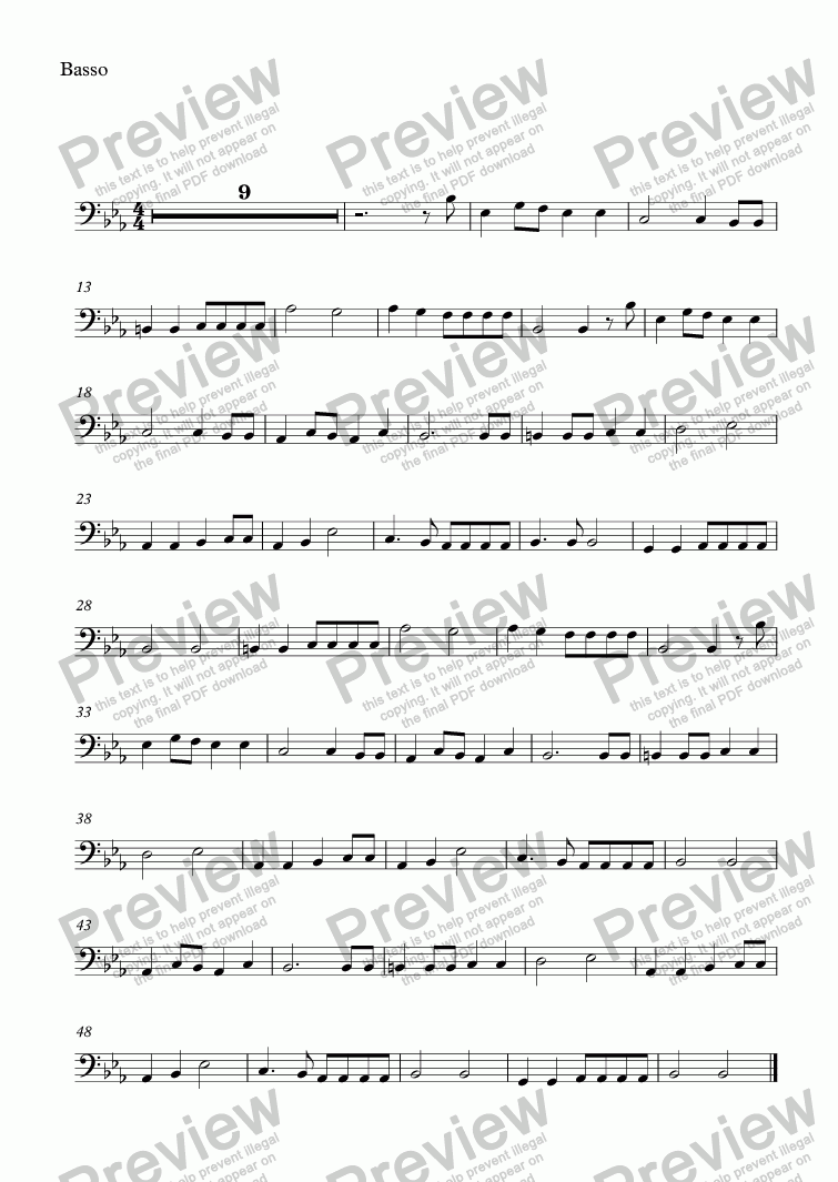 page one of the Basso part from untitled