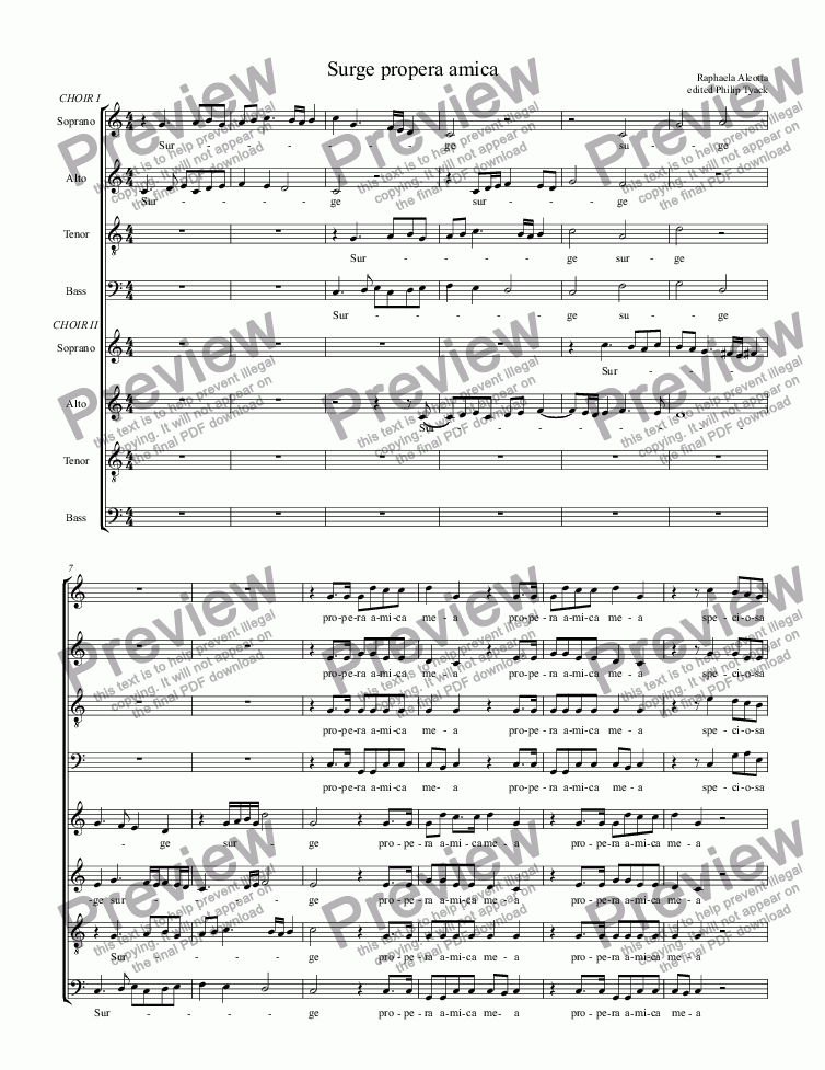 page one of the Soprano part from Quem vidistis pastores