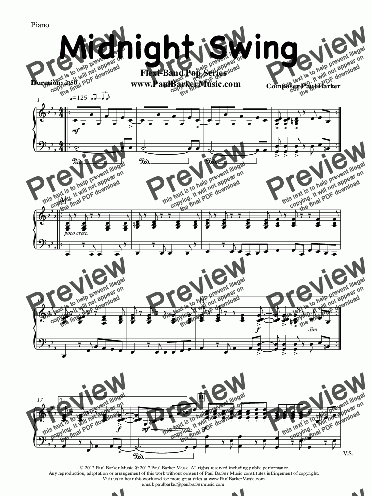 page one of the Piano/Keyboard part from Midnight Swing (Flexi-Band Pop Series)