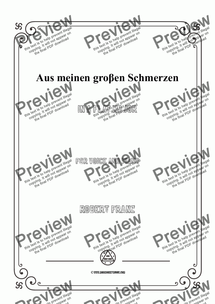 page one of the C05324W0001N04Franz-Aus meinen groβen Schmerzen in A flat Major - 乐谱和分谱 part from Franz-Aus meinen groβen Schmerzen in A flat Major,for Voice and Piano