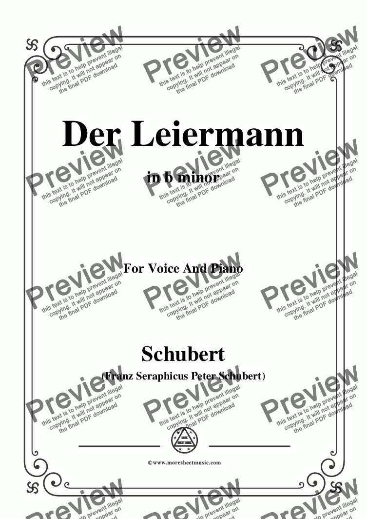 page one of the C05330W0152N03Schubert-Der Leiermann,in b minor,Op.89 No.24,for Voice and Piano - Score and parts part from Schubert-Der Leiermann,in b minor,Op.89 No.24,for Voice and Piano