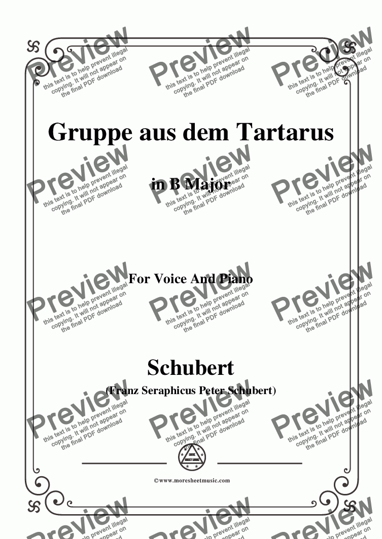 page one of the C05330W0264N06Schubert-Gruppe aus dem Tartarus,Op.24 No.1,in B Major,for Voice&Piano - Score and parts part from Schubert-Gruppe aus dem Tartarus,Op.24 No.1,in B Major,for Voice&Piano