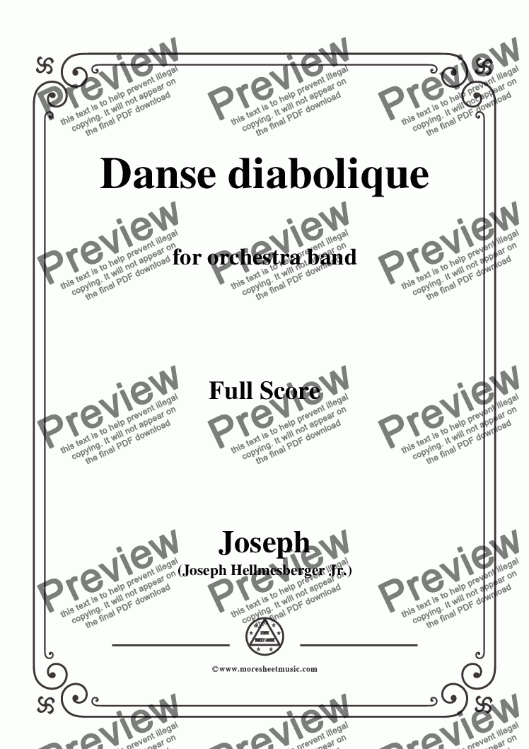 page one of the Hellmesberger Jr.-Danse diabolique,for Orchestra part from Hellmesberger Jr.-Danse diabolique,for Orchestra