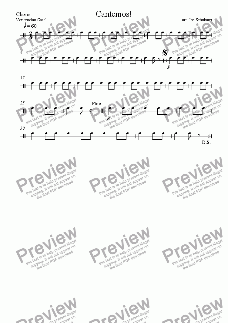 page one of the Claves part from Cantemos!