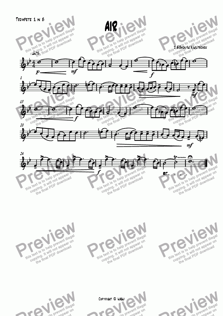 page one of the 1st Trumpet Bb part from AIR