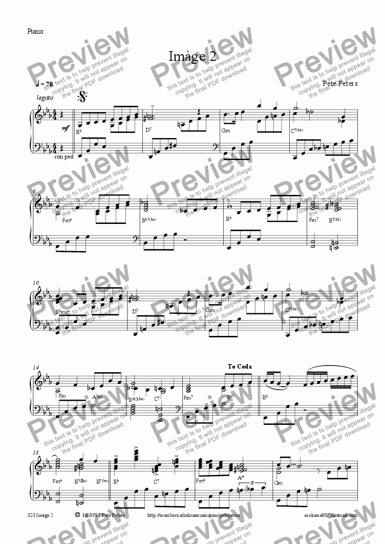 page one of the Piano part from Image 2 [cello + piano]