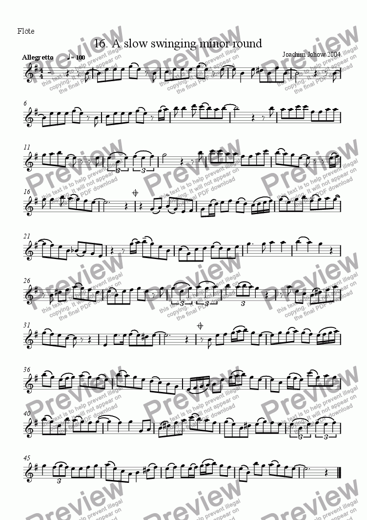 page one of the Fl part from Grand Canon 16 A slow swinging minor round