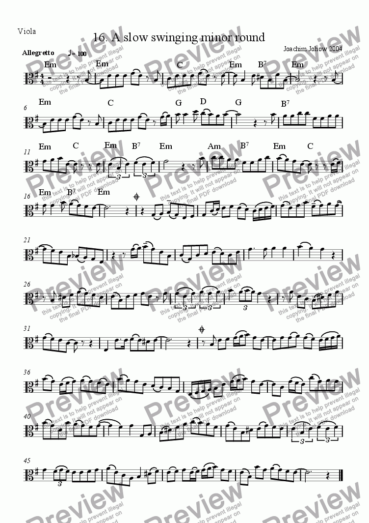 page one of the Vla part from Grand Canon 16 A slow swinging minor round