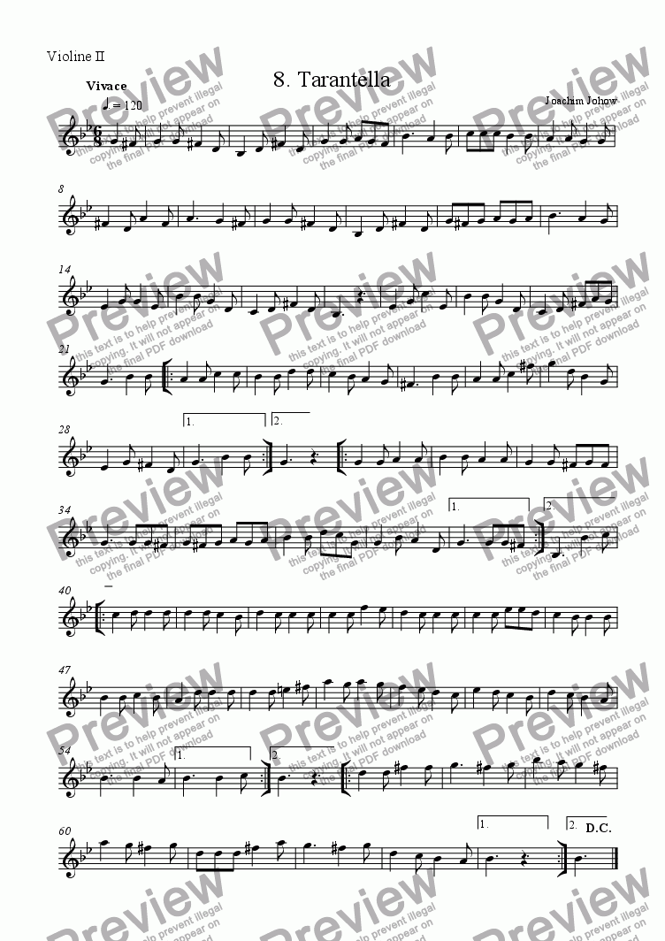 page one of the 2. Vl part from Tarantella 08