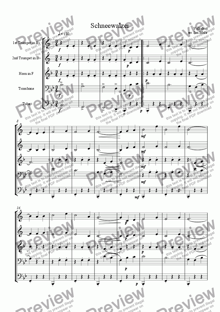 page one of Schneewalzer