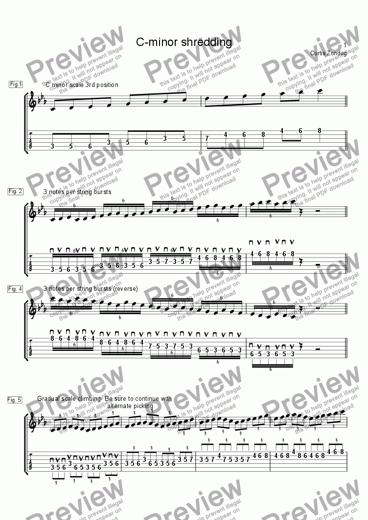 page one of C-minor ShreddingASALTTEXT