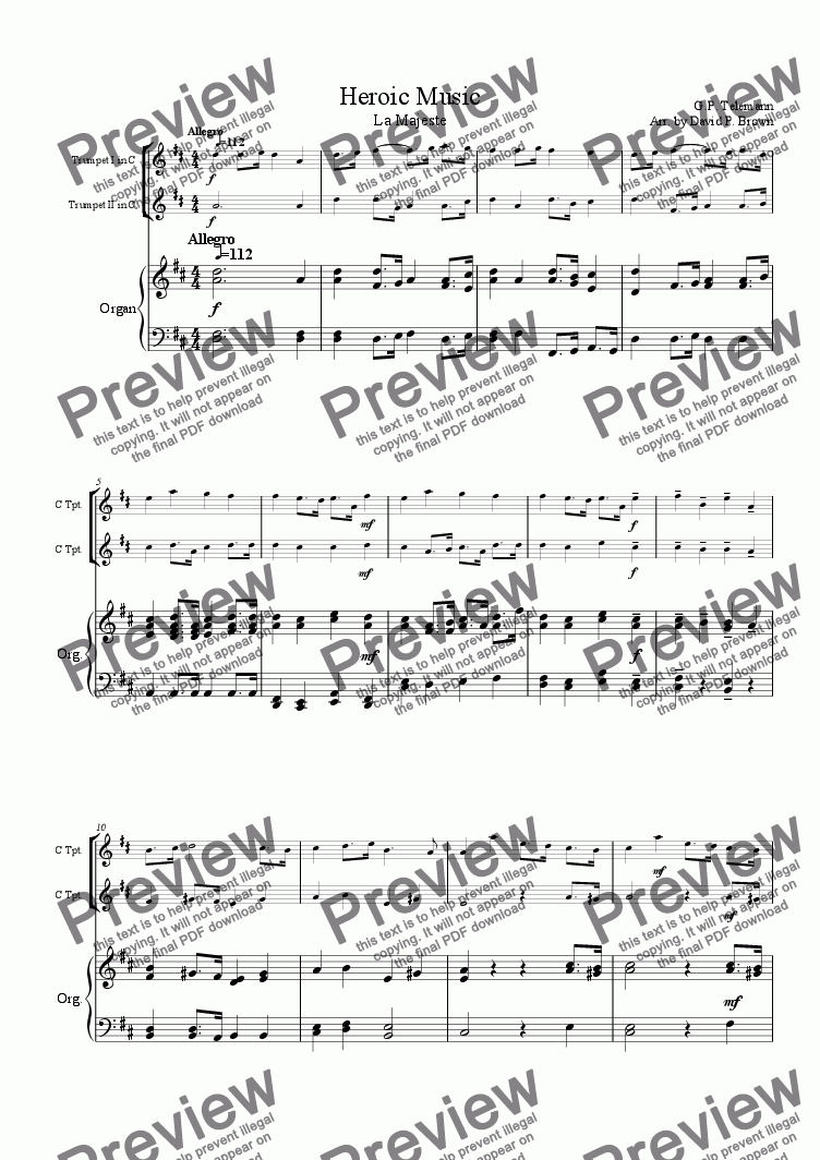 page one of Heroic Music