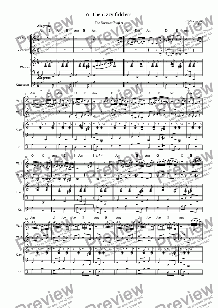 page one of Summer Fiddler 06 (The dizzy fiddlers)ASALTTEXT