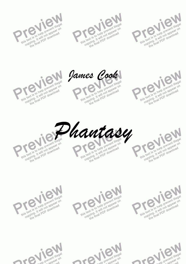 page one of Phantasy