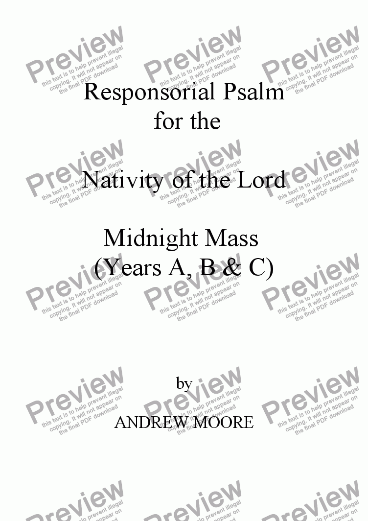 page one of The Nativity of Our Lord- Midnight Mass (Year C)