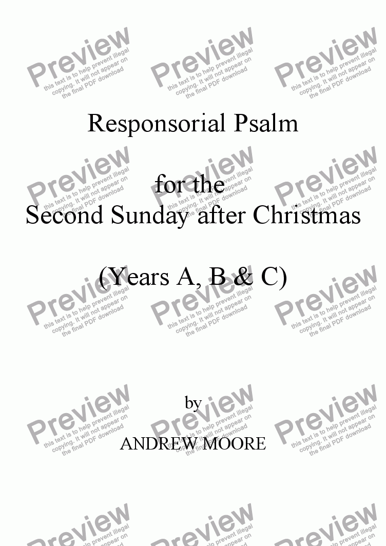 page one of Second Sunday after Christmas (Year C)