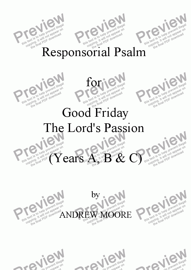 page one of Good Friday (Year C)