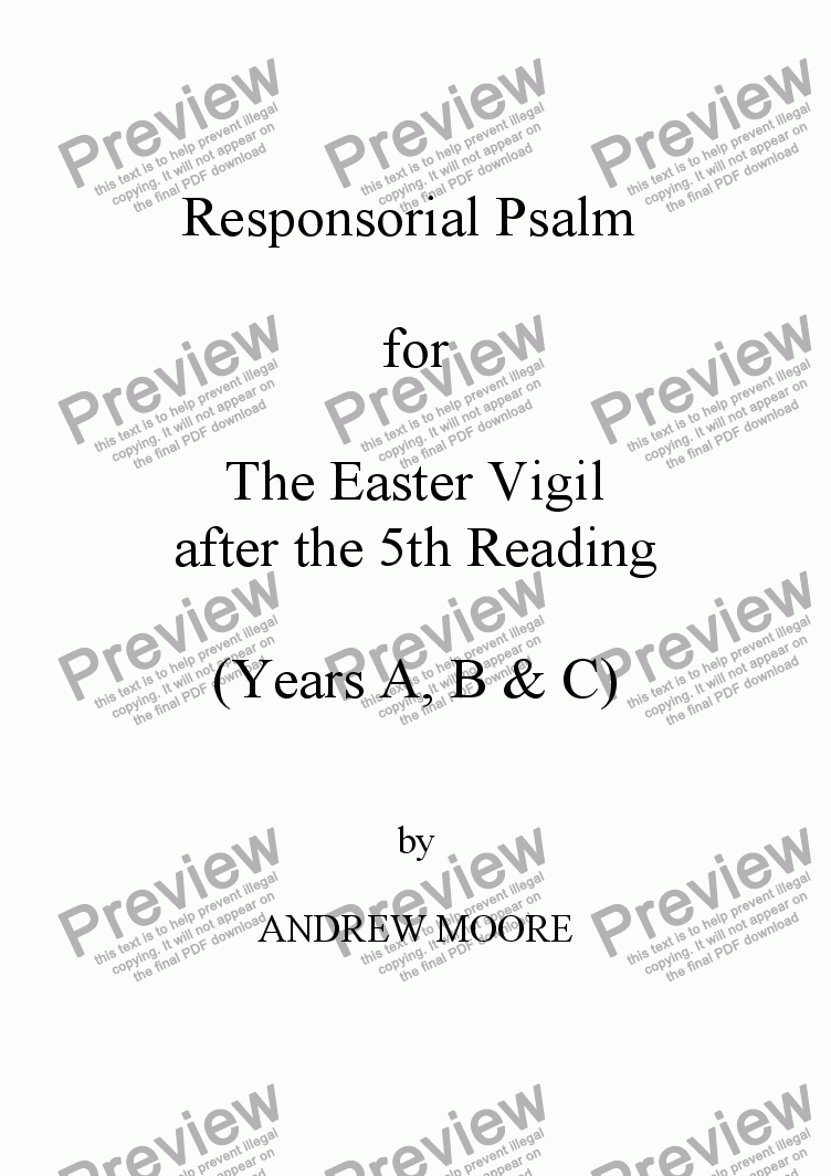 page one of Easter Vigil 5 (Year C)