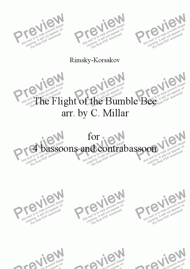 page one of Flight of the Bumble BeeASALTTEXT