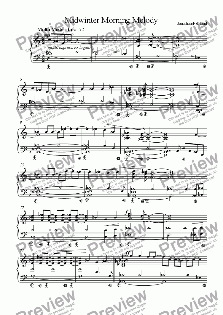 page one of Midwinter Morning MelodyASALTTEXT