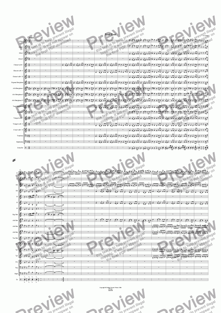 page one of Final Beat