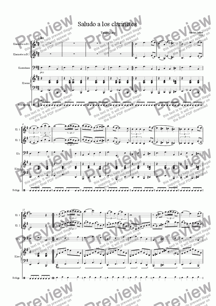 page one of Saludo a los clarinetesASALTTEXT
