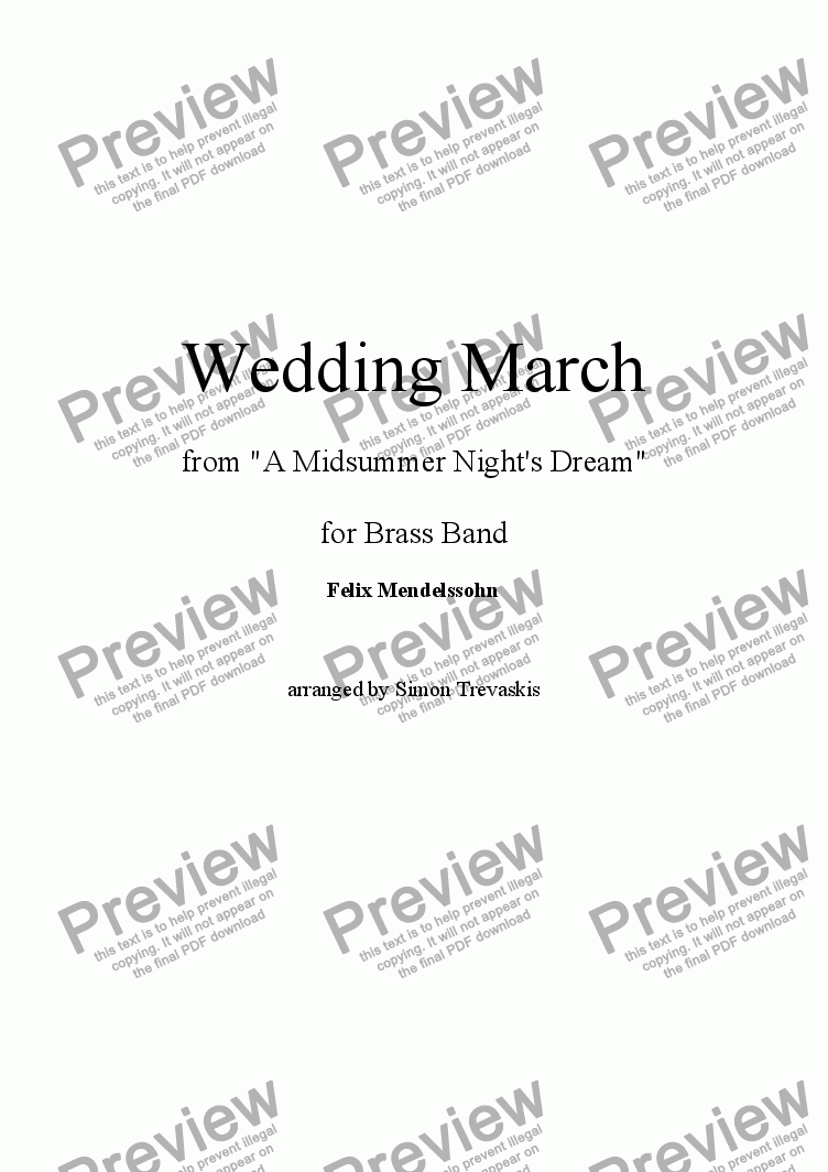 page one of Wedding March