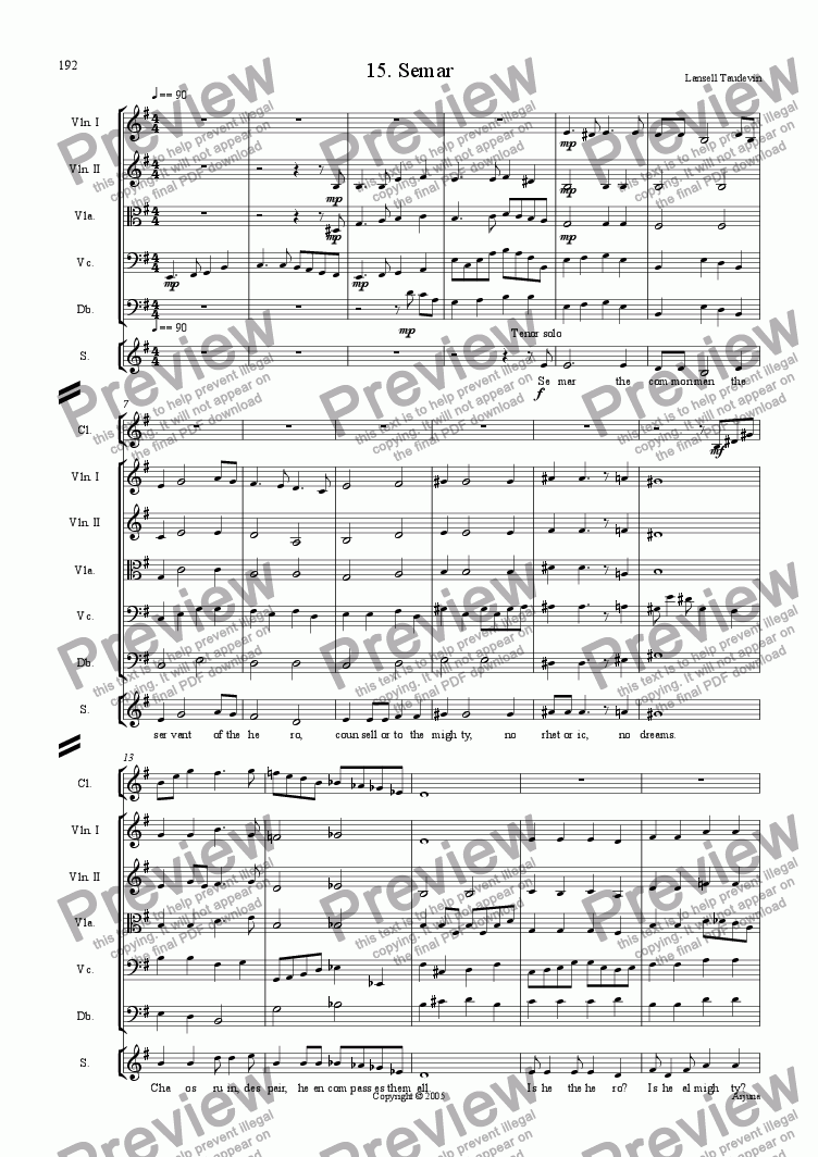 page one of Arjuna (Orchestrated) 15 Semarl