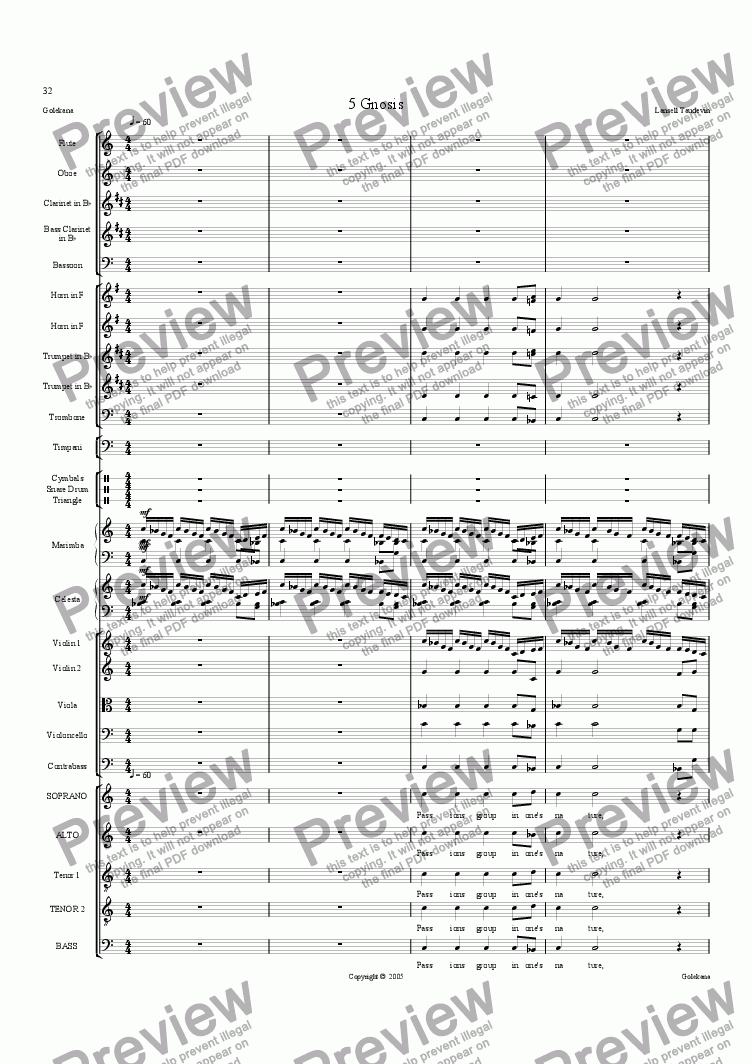 page one of Golekana (Orchestrated) 4 Gnosis