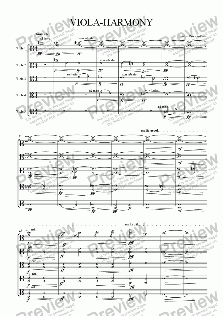page one of Viola-Harmony