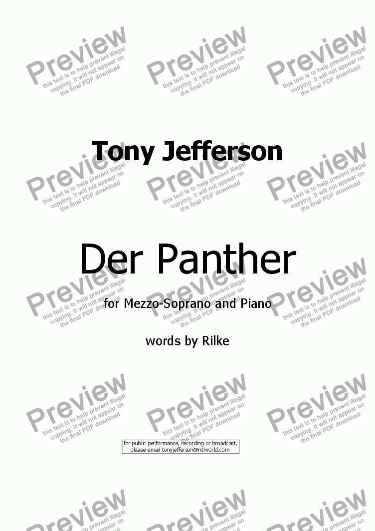 page one of Der Panther