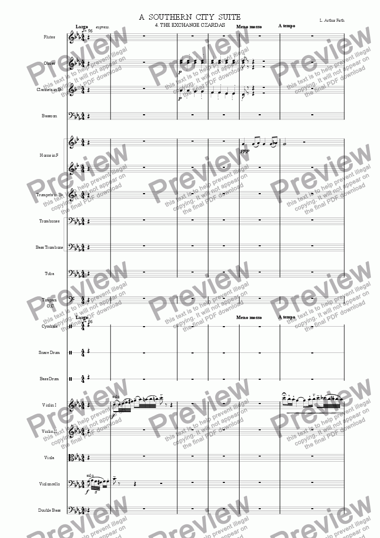 page one of Southern City Suite - 4 - The Exchange Czardas