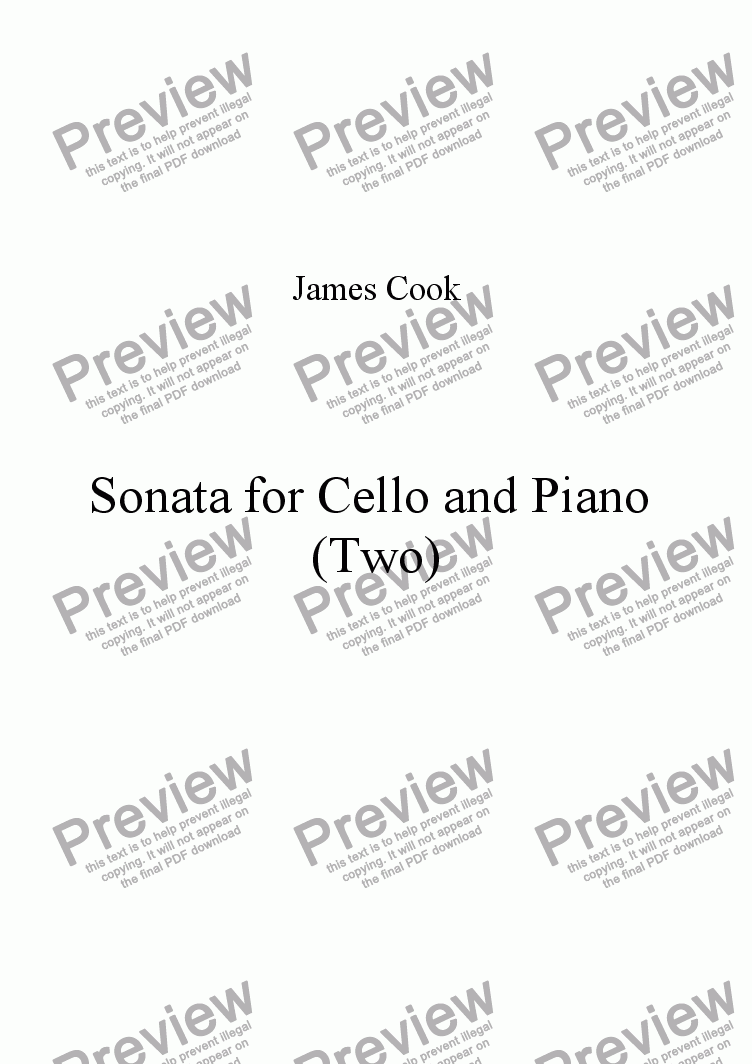 page one of Sonata for Cello and Piano (Two)