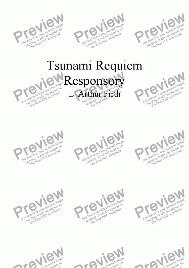 page one of A Tsunami Requiem - Church version - 11 ResponsoryASALTTEXT