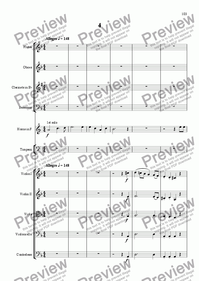 page one of An October Symphony - 4th Movement