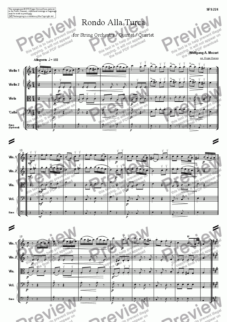 page one of Piano Sonata in A