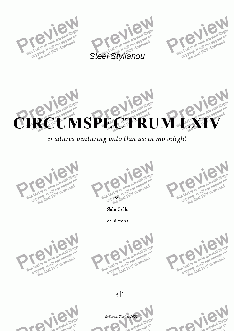 page one of circumspectrum LXIVASALTTEXT