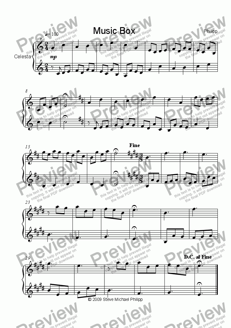 page one of Music BoxASALTTEXT