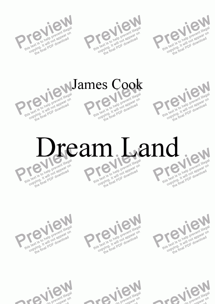 page one of Dream Land