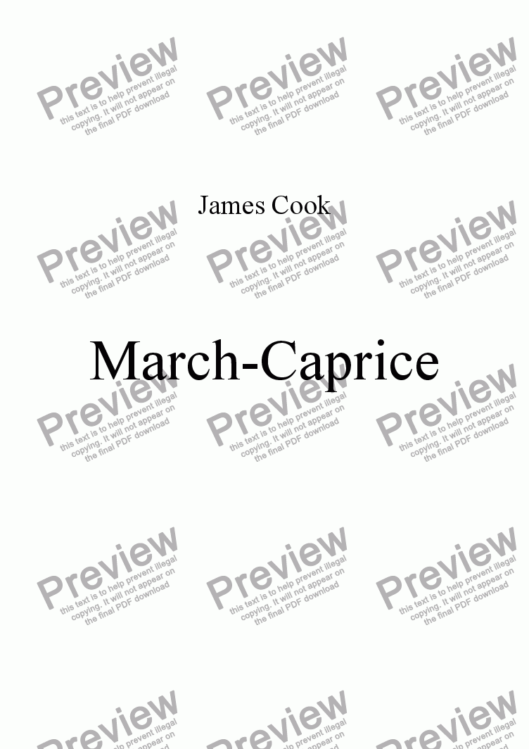 page one of March-Caprice