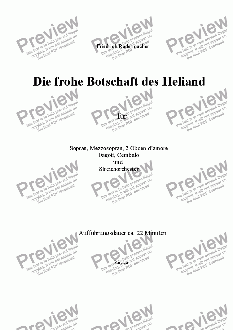 page one of Die frohe Botschaft des Heliand